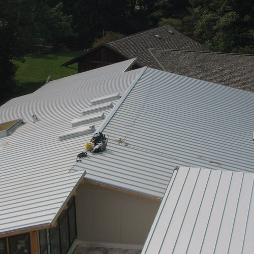 Green Project at Powder Mill Nature Reserve, Standing Seam Metal Roof
