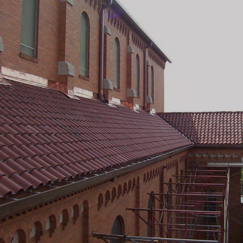 St. Benedict Church, Baltimore Maryland Custom Copper and Tile Roof